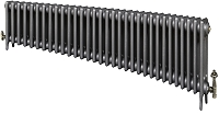 Eastgate Victoriana 3 Column 32 Section Cast Iron Radiator 450mm High x 1960mm Wide - Metallic Finish